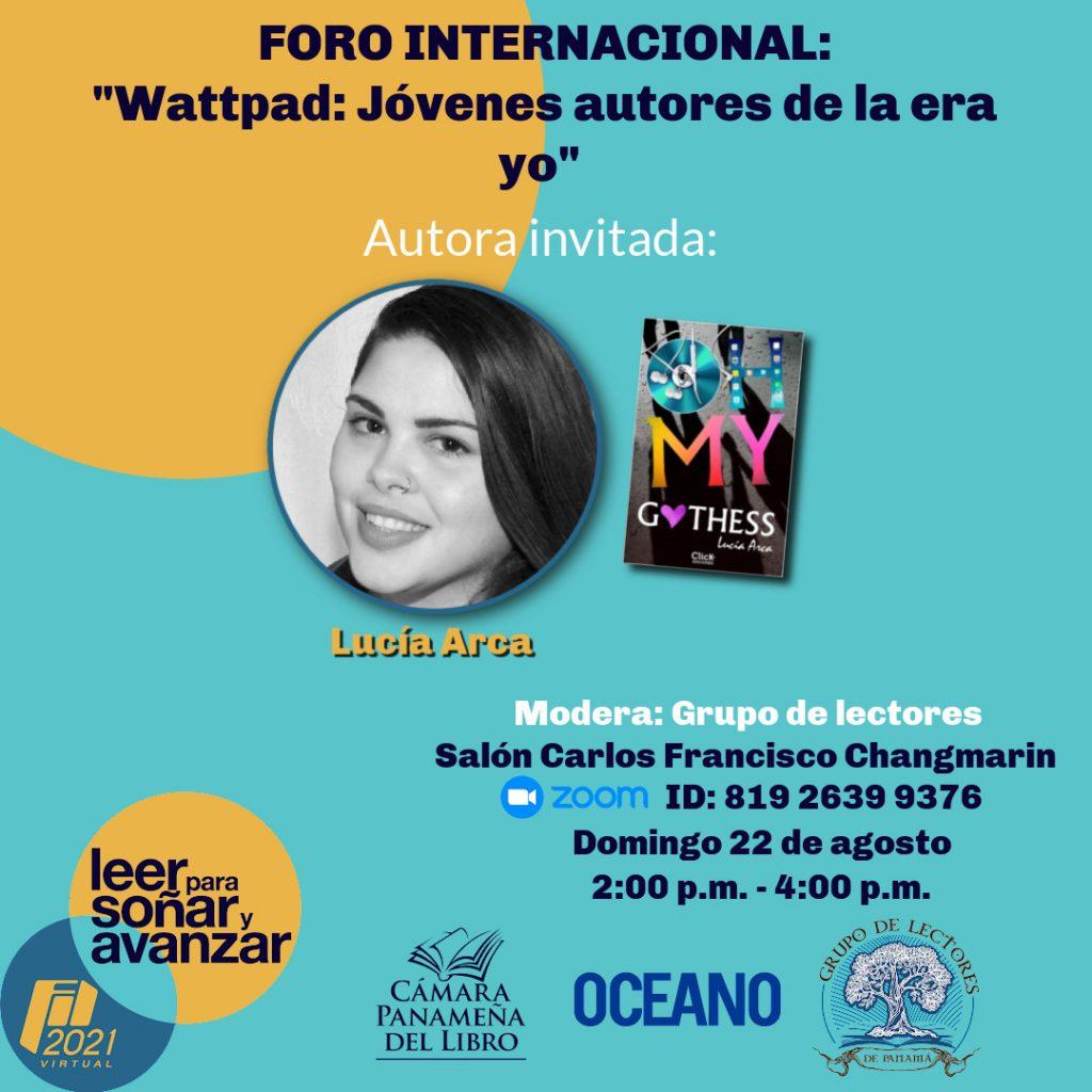 """Wattpad:  """"Jovenes autores de la era yo"""" – Autora invitada: Lucía García."""